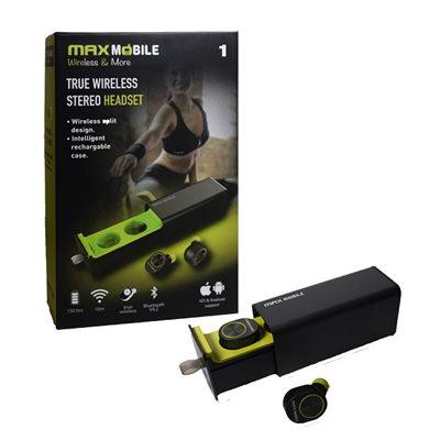 Slušalice MAXMOBILE GW-10 TWS, in-ear, Bluetooth, crne