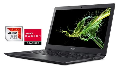 "Prijenosno računalo ACER Aspire 3 NX.GNVEX.070 / AMD A6-9220e, 4GB, 500GB + 128GB SSD, Radeon R4, 15.6"" LED FHD, Linux, crno"