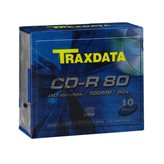 Medij CD-R TRAXDATA 52x, 700MB, Slim Box, 10 komada