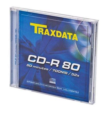 Medij CD-R TRAXDATA 52x, 700MB, slim, komad