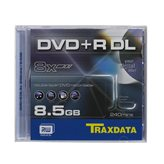 Medij DVD+R DL TRAXDATA 8x BOX 1, 8.5GB, komad