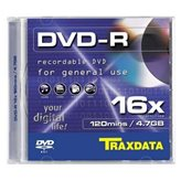 Medij DVD+R TRAXDATA 16x BOX 1, 4.7GB, komad