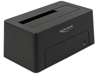 """Docking station DELOCK, USB-C 3.1, 1 x SATA HDD/SSD, 2.5""""/3.5"""" SATA HDDs/SSDs"""