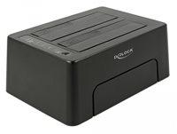 """Docking station DELOCK, USB-C 3.1, 2 x SATA HDD/SSD, 2.5""""/3.5"""" SATA HDDs/SSDs, Funkcija kloniranja"""