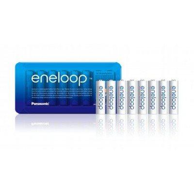 Baterija PANASONIC Eneloop BK3MCCE8BE, tip AA, punjive, 1900 mAh, 8kom + kutijica