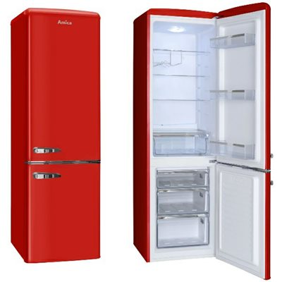 Hladnjak AMICA FK2965.3RAA, kombinirani , 255 lit., crveni, energetska klasa A++