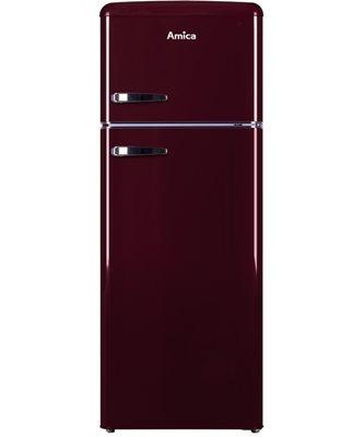 Hladnjak AMICA KGC 15631R, kombinirani , 210 lit., tamno crveni, energetska klasa A++