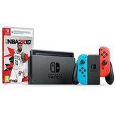 Igraća konzola NINTENDO Switch, Red & Blue Joy-Con, NBA 2K18, Rayman Legends DE Switch