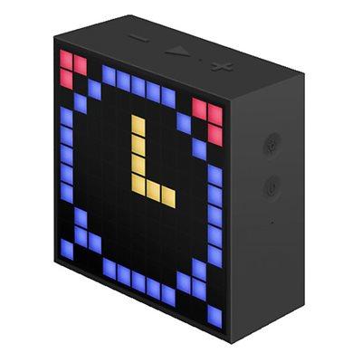 Zvučnik DIVOOM Timebox FM, Bluetooth, mikrofon, pametni sat, noćna lampa, crni
