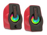 Zvučnici RAMPAGE RMS-G7 Falsetto, 2.0, RGB, 6W, crveni
