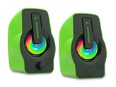 Zvučnici RAMPAGE RMS-G7 Falsetto, 2.0, RGB, 6W, zeleni
