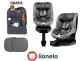 Autosjedalica LIONELO Antoon, i-Size R129, 360°, ISOFIX, 0-18kg., siva