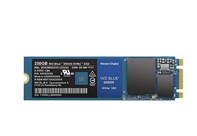 SSD 250.0 GB WESTERN DIGITAL Blue SN500, WDS250G1B0C, M.2, 1700/1300 MB/s