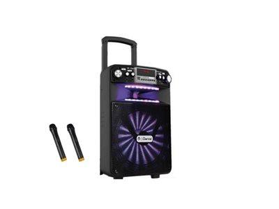 Karaoke iDANCE Groove 508X, FM, BT, disco LED, 2 bežična mikrofona, baterija