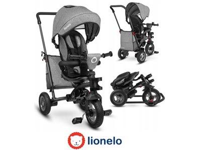 Tricikl LIONELO Tris 2 u 1, sivi