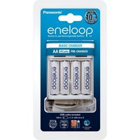Punjač baterija PANASONIC Eneloop KKJ61MCC40USB, brzi, 4 mjesta za punjenje, USB + 4AA eneloop