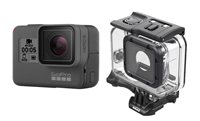 Sportska digitalna kamera GOPRO HERO7 Black, 4K60, 12 Mpixela + HDR, Touchscreen, Voice Control, 3 Axis, GPS, + Super Suit AADIV-001