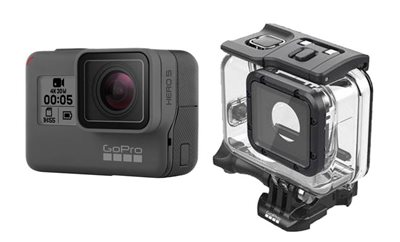 Sportska digitalna kamera GOPRO HERO7 Black, 4K60, 12 Mpixela + HDR, Touchscreen, Voice Control, 3 Axis, GPS, + Super Suit AADIV-001