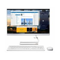 "Računalo AiO LENOVO F0E80071RI / Core i3 8145U, DVDRW, 4GB, 256GB SSD, HD Graphics, 23.8"" FHD, Windows 10, tipkovnica, miš, bijelo"