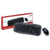 Tipkovnica + miš GENIUS KM-210, crna, USB