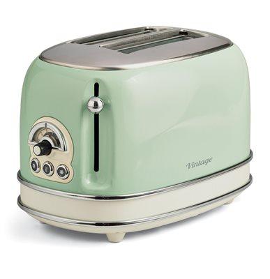 Toster ARIETE Vintage Toaster 155/14, 2 slice, zeleni