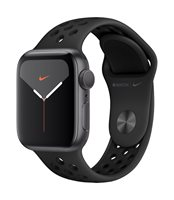 Pametni sat APPLE Watch Nike Series 5 GPS, 40mm, sivi aluminijski okvir sa antracitom, crna Nike sportska narukvica - PREORDER