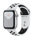 Pametni sat APPLE Watch Nike Series 5 GPS, 40mm, srebrni aluminijski okvir sa platinom, crna Nike sportska narukvica - PREORDER