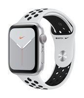 Pametni sat APPLE Watch Nike Series 5 GPS, 44mm, srebrni aluminijski okvir sa platinom, crna Nike sportska narukvica, S/M & M/L - PREORDER