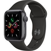 Pametni sat APPLE Watch Series 5 GPS, 40mm, sivi aluminijski, crna sportska narukvica - PREORDER
