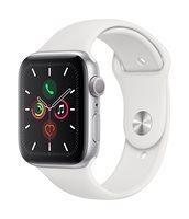 Pametni sat APPLE Watch Series 5 GPS, 44mm, srebrni aluminijski, bijela sportska narukvica, S/M & M/L - PREORDER