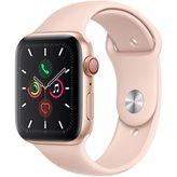 Pametni sat APPLE Watch Series 5 GPS, 44mm, zlatni aluminijski, pink sand sportska narukvica, S/M & M/L - PREORDER