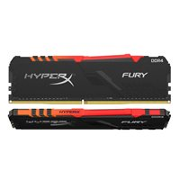 Memorija PC-25600, 16 GB, KINGSTON HX432C16FB3AK2/16 HyperX Fury, RGB, DDR4 3200MHz, kit 2x8GB