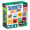 Slagalica HEADU Silhouette Memo Game, igra memorije, 25 komada