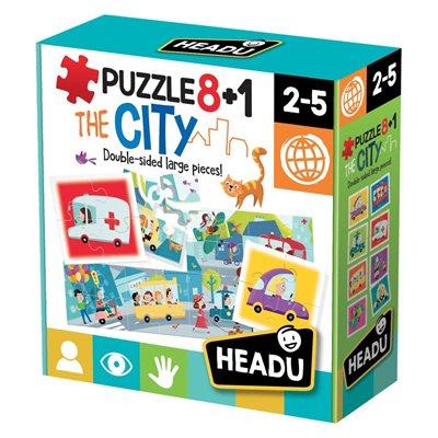 Slagalica HEADU The City 8+1, 32 komada, obostrana