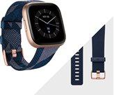 Sportski sat FITBIT Versa 2, HR, alexa built-in, platneni plavo-rozi i klasični plavi remen uključeni