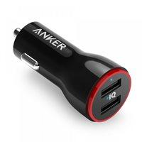 Auto punjač ANKER PowerDrive 2, A2310G11, 2 USB 3.0 priključka, crni
