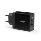 Kućni punjač ANKER PowerPort 2 B2021L11, USB, crni