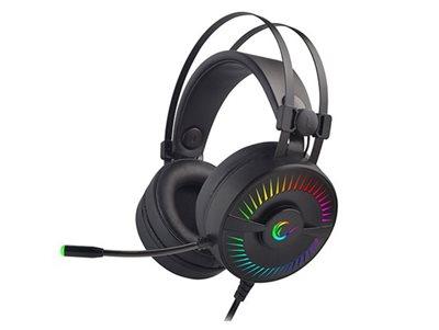Slušalice RAMPAGE RM-2019G X-TITAN RGB, 7.1, USB, crne