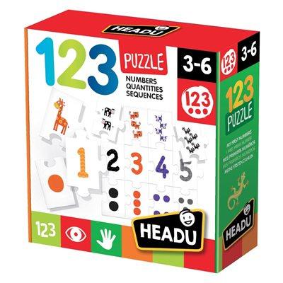 Slagalica HEADU 123 Puzzle, 123 slagalica, 32 komada