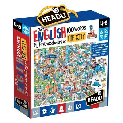 Slagalica HEADU Easy English, moje prvo upoznavanje engleskog jezika, 108 komada