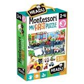 Slagalica HEADU Montessori, Moja prva slagalica - grad, 6 velikih slagalica i 5 drvenih životinja