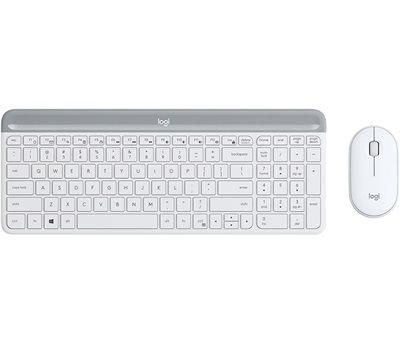 Tipkovnica + miš LOGITECH MK470 Slim Wireless, bežična, Unifying receiver USB, bijela