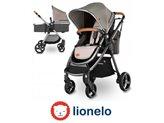 Dječja kolica LIONELO Greet 2 u 1, do 3 god., do 15kg, sivo/srebrna + dodatci
