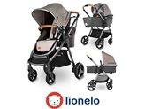 Dječja kolica LIONELO Greet 3 u 1, do 3 god., do 15kg, sivo/srebrna + košara za auto, dodatci