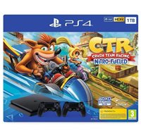 Igraća konzola SONY PlayStation 4, 1000GB, crna + Gamepad + Crash Team Racing
