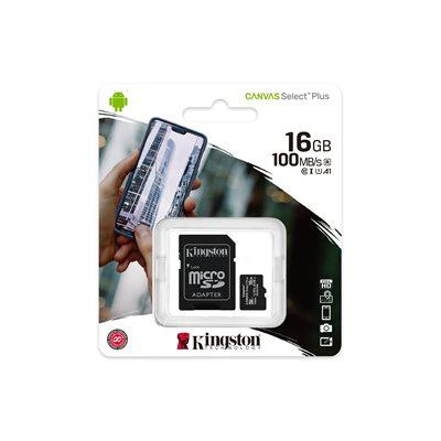 Memorijska kartica KINGSTON Canvas Select Micro SDCS2/16GB, SDHC 16GB, Class 10 UHS-I + adapter