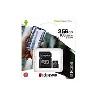 Memorijska kartica KINGSTON Canvas Select Plus Micro SDCS2/256GB, SDXC 256GB, Class 10 UHS-I + adapter