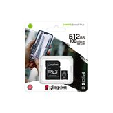 Memorijska kartica KINGSTON Canvas Select Plus Micro SDCS2/512GB, SDXC 512GB, Class 10 UHS-I + adapter