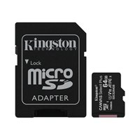 Memorijska kartica KINGSTON Canvas Select Plus Micro SDCS2/64GB, SDXC 64GB, Class 10 UHS-I + adapter