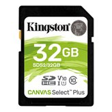 Memorijska kartica KINGSTON Canvas Select Plus SDS2/32GB, SDHC 32GB, Class 10 UHS-I